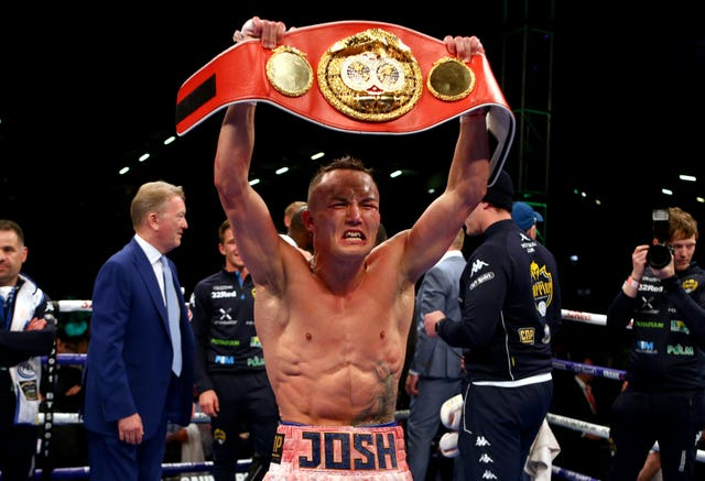 Josh Warrington, pictured, became world champion by outpointing Lee Selby in May (Dave Thompson/PA)
