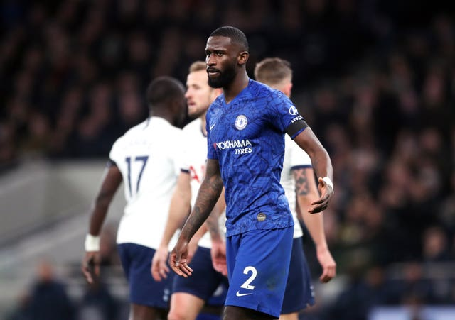 Antonio Rudiger was targeted with racist abuse during the match against Tottenham