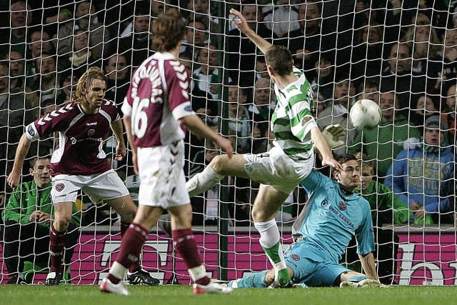 Gordon and Robbie Neilson in action for Hearts