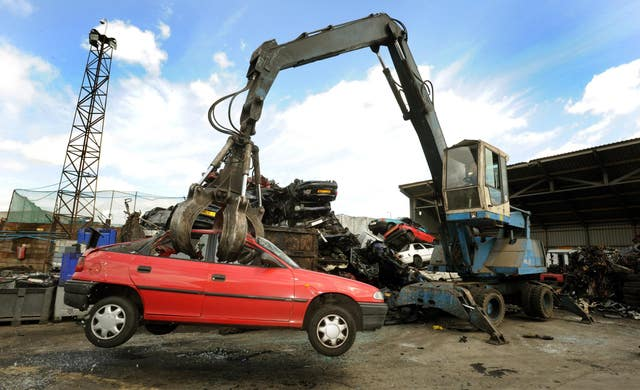 Crackdown on stolen cars being scrapped and then shipped overseas