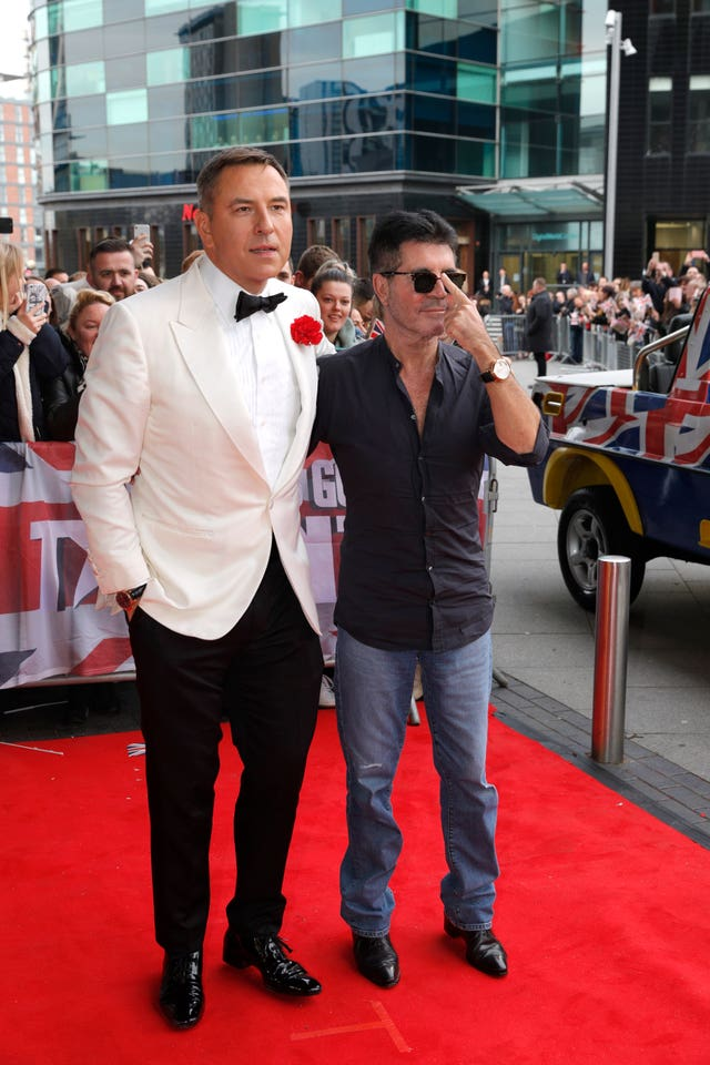 David Walliams (left) and Simon Cowell
