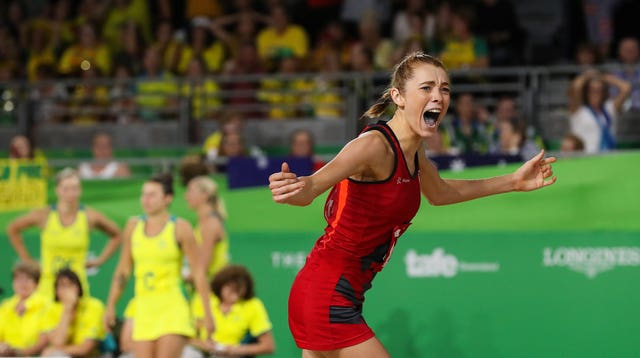 Helen Housby snatched a famous win for England's netballers at the 2018 Commonwealth Games