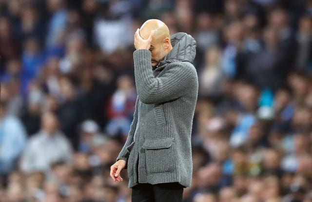 Guardiola's side were beaten by Tottenham in the Champions League quarter-finals last year