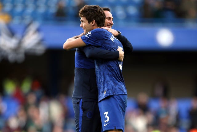 Marcos Alonso, right, has hailed Chelsea's progress under Frank Lampard