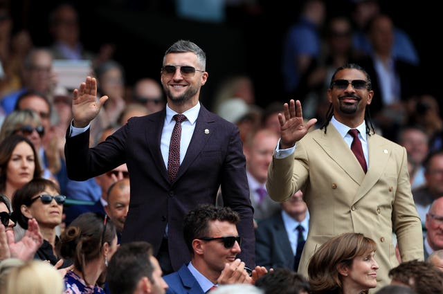 Former boxers Carl Froch and David Haye