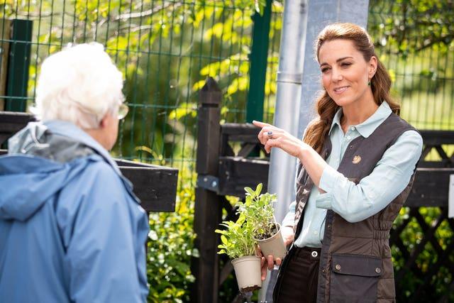 Kate at a garden centre