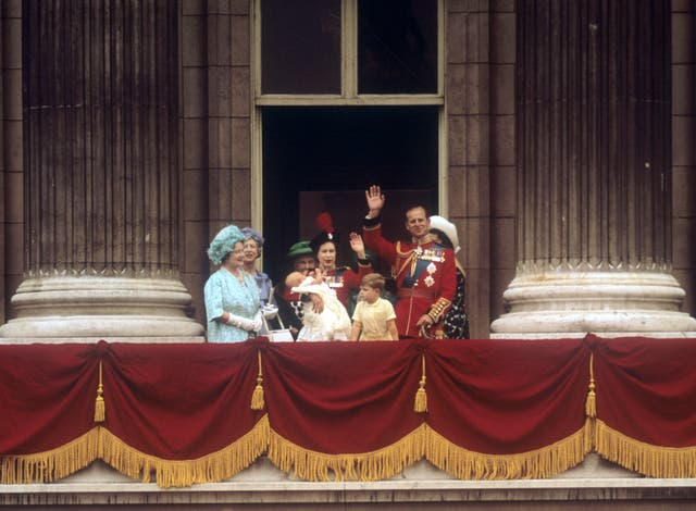 Baby Prince Edward on the balcony