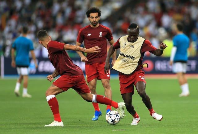 Liverpool's front three of Roberto Firmino (left), Mohamed Salah and Sadio Mane have scored almost 250 goals for the club between them