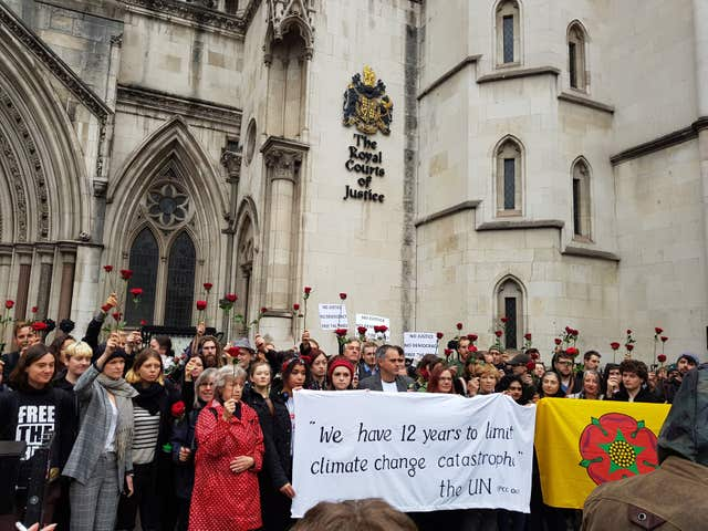 Fracking protest court case