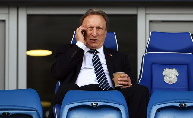 Neil Warnock took charge of Cardiff for the 100th time