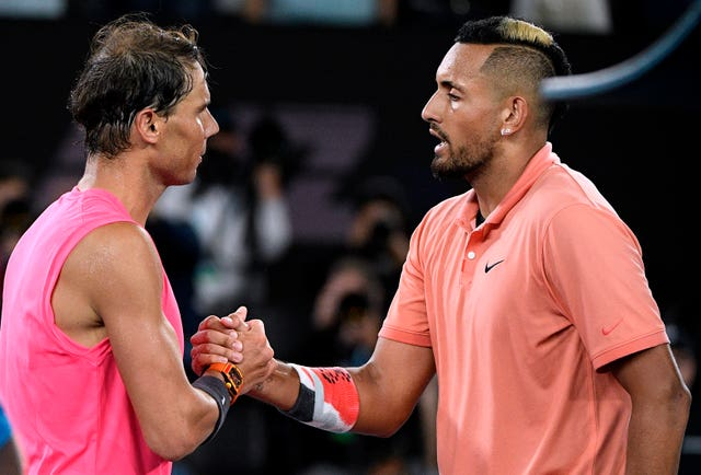 Nick Kyrgios, right, and Rafael Nadal put on a show on Rod Laver Arena