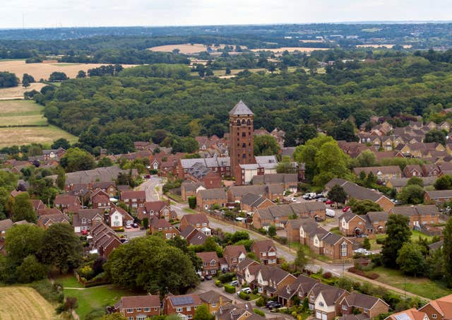 The water tower, which affords views over four counties, Mrs Lenson said