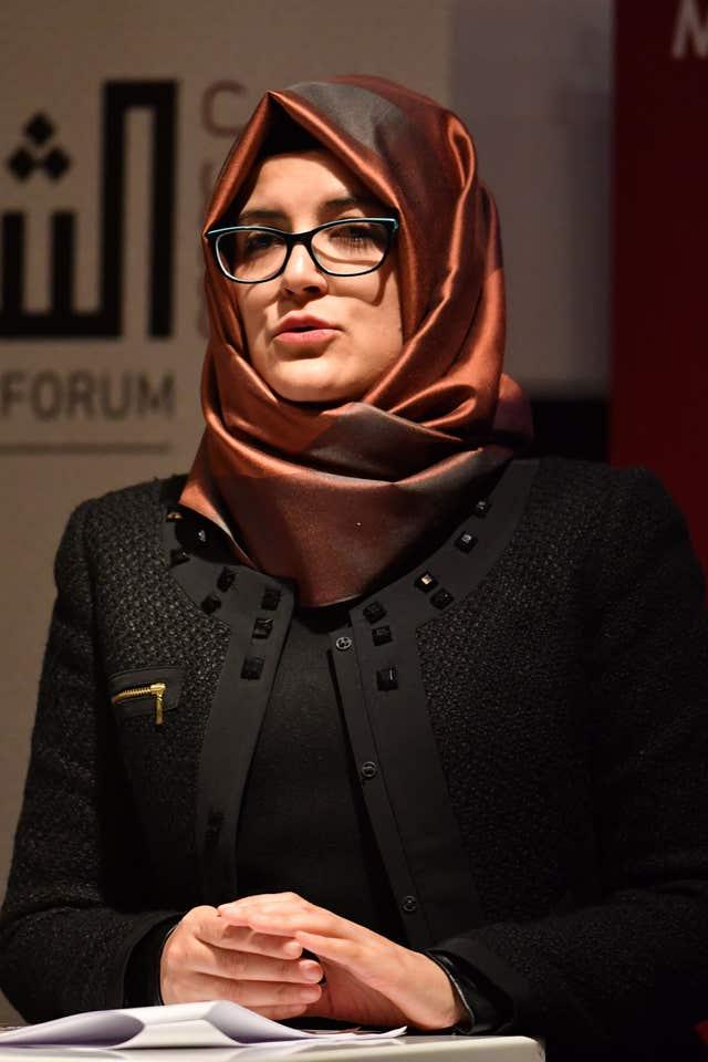 Hatice Cengiz, the fiancee of the murdered journalist Jamal Khashoggi