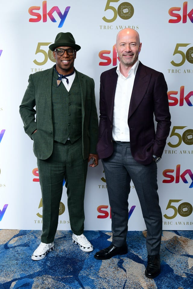 Ian Wright and Alan Shearer