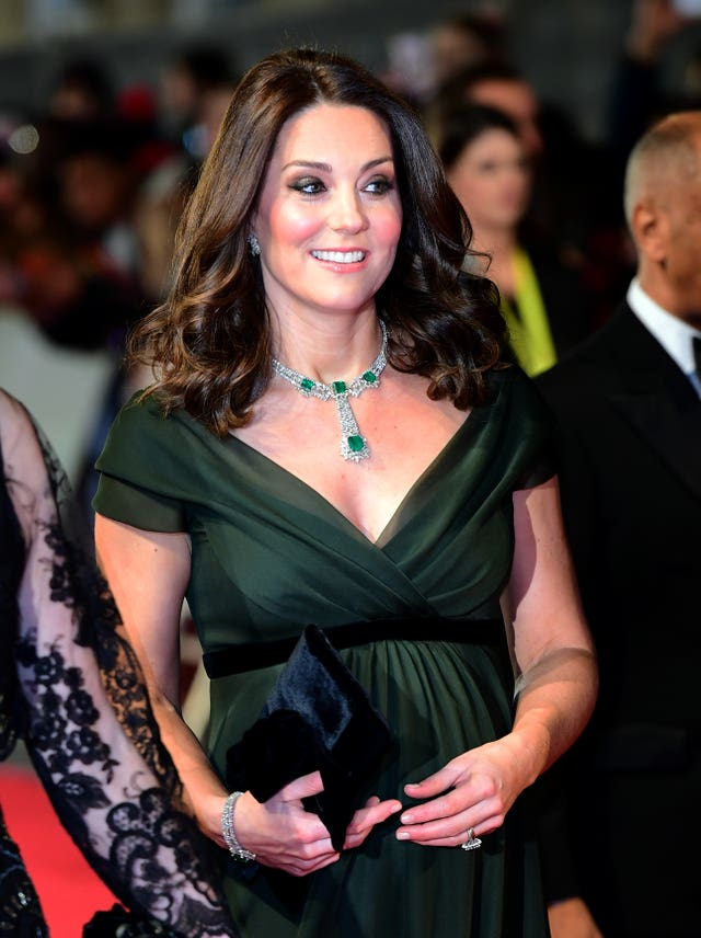 The Duchess of Cambridge wore dark green to the EE British Academy Film Awards (Ian West/PA)