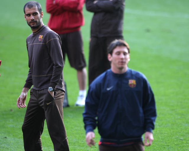 Pep Guardiola coached Lionel Messi at Barcelona