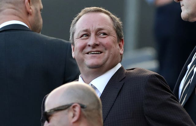 Owner Mike Ashley watched Newcastle's defeat at Chelsea (Owen Humphreys/PA).