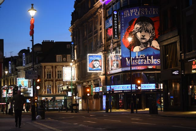 The Sondheim Theatre, which usually shows the Les Miserables musical
