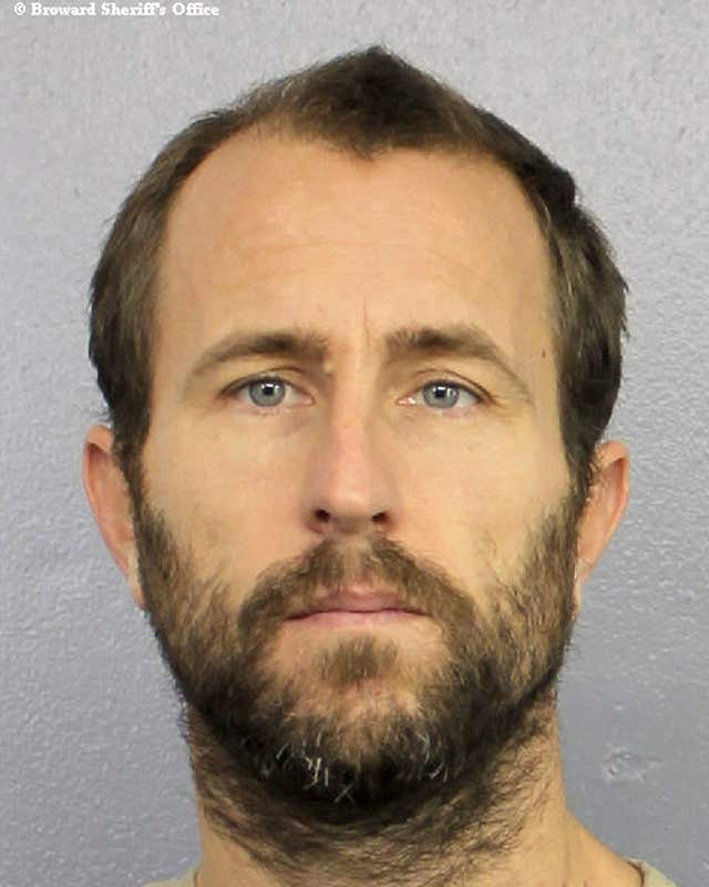 Lewis Bennett, a Briton whose wife mysteriously vanished as the newly-weds sailed off the Cuban coast (Broward Sheriff's Office/PA)
