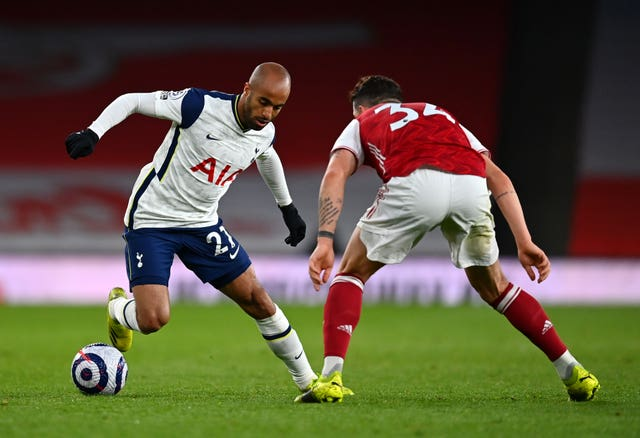 Lucas Moura (left) felt Tottenham were guilty of a slow start to the north London derby.