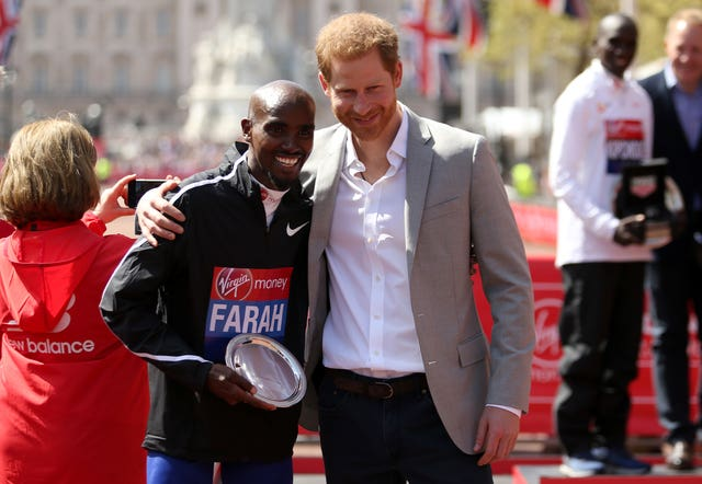 Harry and Sir Mo Farah