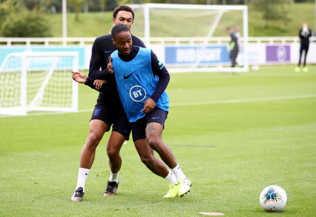 Raheem Sterling, right, has been a big influence on Sancho