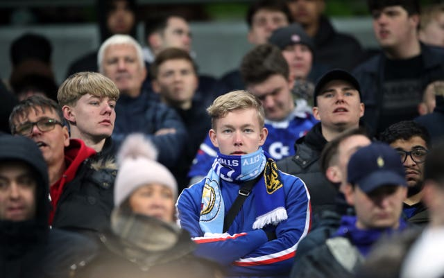 Chelsea's fans were left despondent
