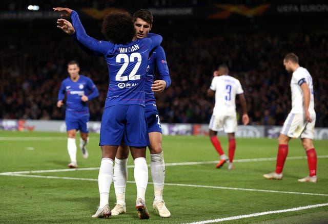 Alvaro Morata was the match-winner against Vidi