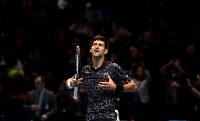 Novak Djokovic's celebration was described as