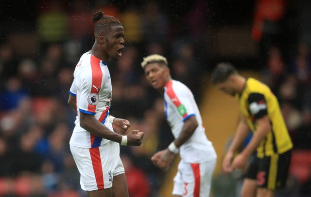Wilfried Zaha was targeted by Watford before scoring a late consolation