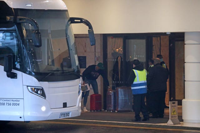 The UK did not introduce its quarantine hotel policy until February 15 (Steve Parsons/PA)