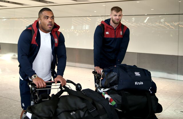 Kyle Sinckler, who was knocked out in the final, and George Kruis