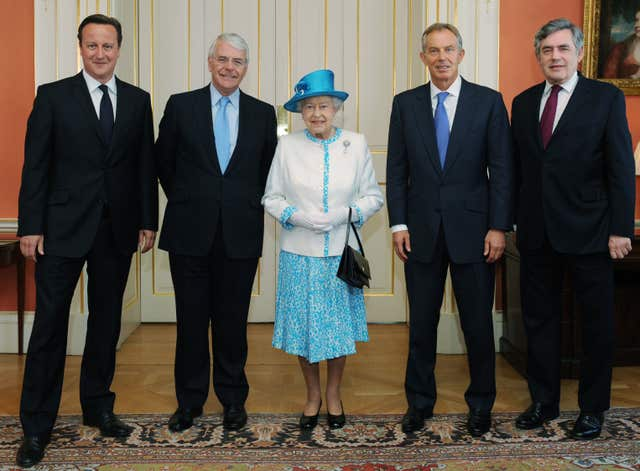 The Queen and former PMs