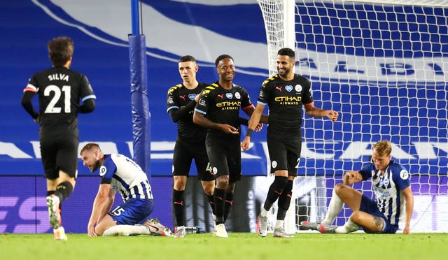Brighton and Hove Albion v Manchester City – Premier League – Amex Stadium
