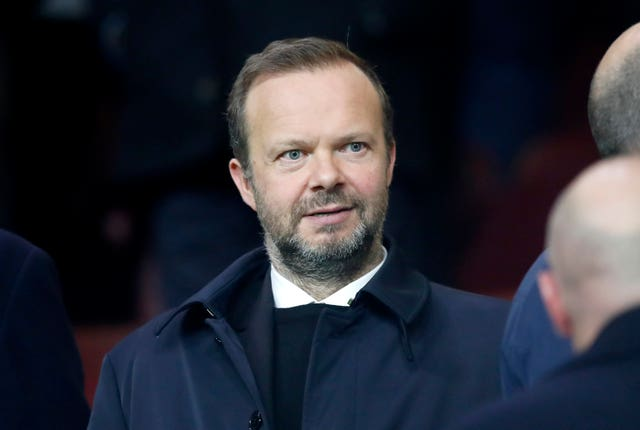 Ed Woodward was targeted by Manchester United supporters urging him to leave the club (Martin Rickett/PA)