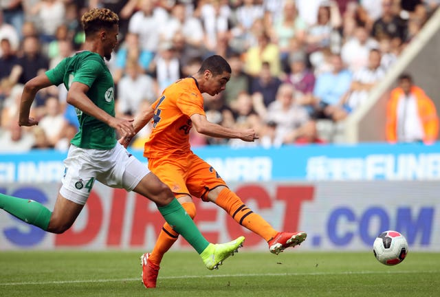 William Saliba (left) has yet to make his Arsenal debut after returning to the club this summer