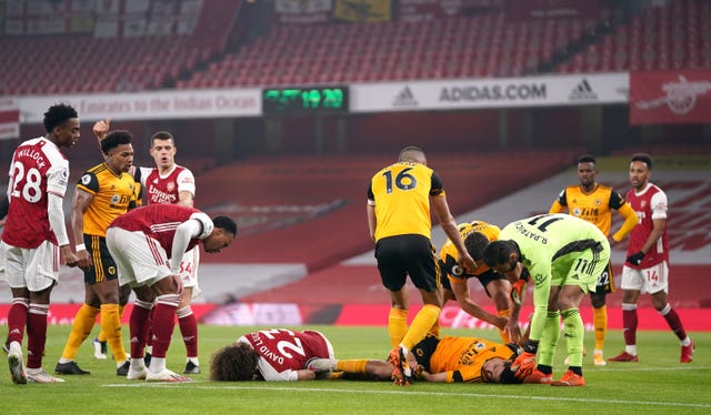 Arsenal v Wolverhampton Wanderers file photo