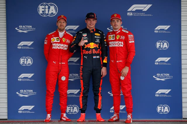 Charles Leclerc (right) inherits pole from Max Verstappen