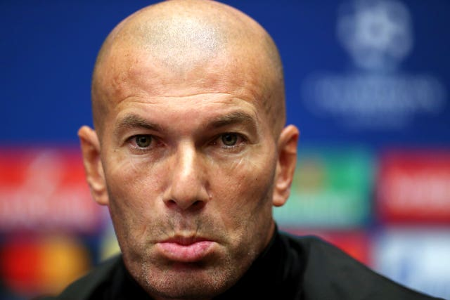 Real Madrid manager Zinedine Zidane refused to be drawn on their two-year ban