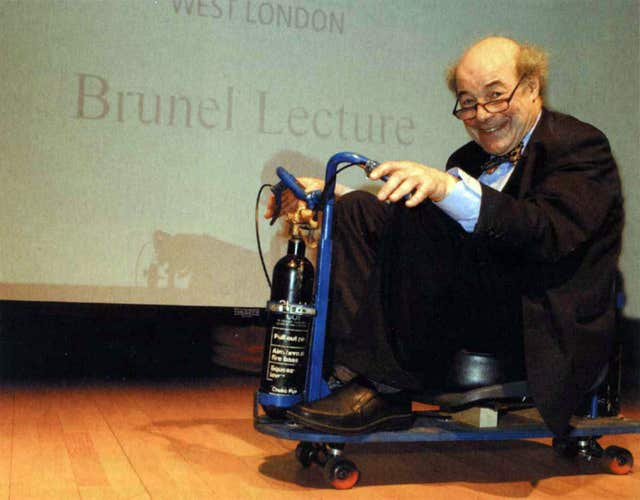 Scientist and TV presenter Professor Heinz Wolff on his 80th birthday (Brunel University London handout/PA Wire)