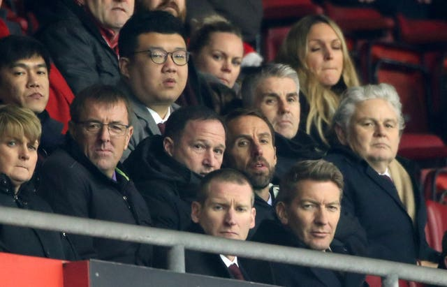 Matt Le Tissier, Steve Holland and Gareth Southgate were all watching on at St Mary's