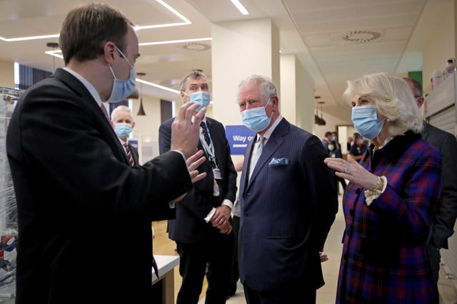 Royal visit to Queen Elizabeth Hospital