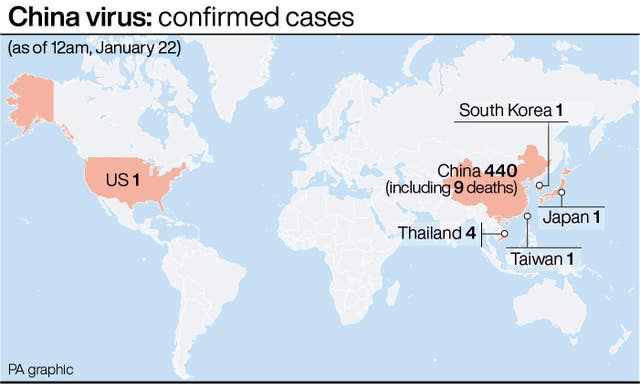 China virus: confirmed cases