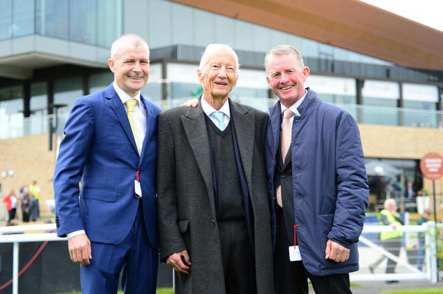 Pat Smullen (left) with Lester Piggott and Mick Kinane