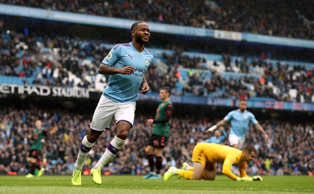 Raheem Sterling has scored 13 goals in 15 appearances in all competitions for City this season