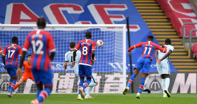 Wilfried Zaha scored a spectacular goal for Palace