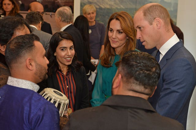 Kate and William met with guests at the Aga Khan centre (Jeff Spicer/PA Wire)