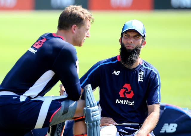 Moeen Ali, right, believes Jos Buttler can thrive anywhere in the order (Mark Kerton/PA)