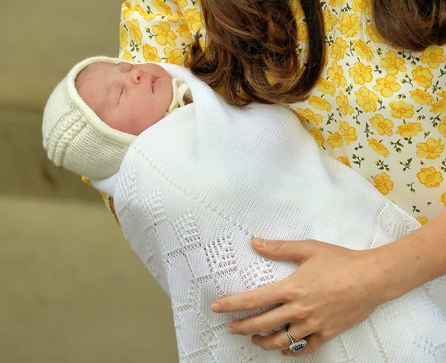 Princess of Cambridge as a baby (John Stillwell/PA)