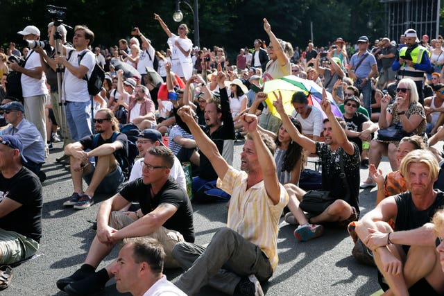 Thousands converged in Berlin to protest against Germany's coronavirus restrictions